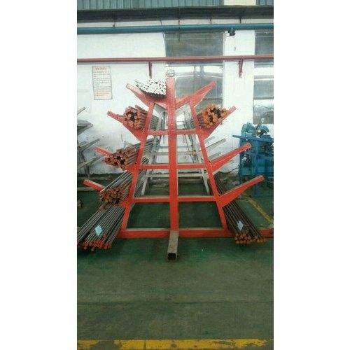 Red Mild Steel Steel Pipe Pallet Racks