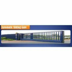 Mild Steel Paint Coated MS Automatic Sliding Gate, For Industrial,Residential