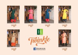 Hirwa Twinkle Classic Trendy Look Attractive Designed Beautiful Kurties