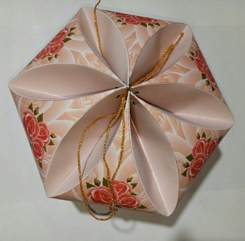Pink Paper Flower Box Rs 25 Piece Agrawal Box Id 20494060330