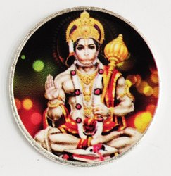 Hanuman Color Silver Coin 10 gm