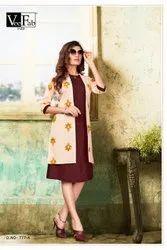Silk Straight Ladies Designer Kurti, Features: Fabir, Age Group: 18 To 36
