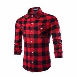 Cotton Checks Mens Casual Wear Full Sleeve Shirts, Machine wash, Size: S - Xxl