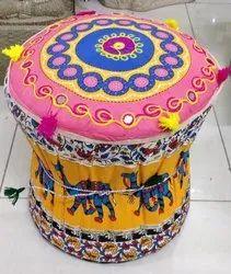 Rajasthani Embroidered Puff Stool