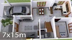 Autocad Building Design, Lucknow, Offline
