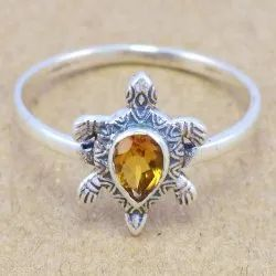 Citrine Gemstone 925 Sterling Silver Jewelry Fine Ring WR-6007