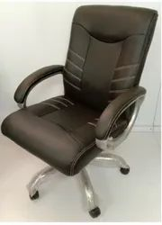 Black Rexine Low Back Office Chair