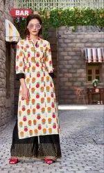 Rayon Printed Palazzo Suit