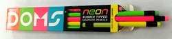 Doms Neon Rubber Tipped Pencil Pack of - 10 (100 Pencil)