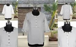 Casual Wear Regular Cotton Tops / Kurtis, Wash Care: Machine wash