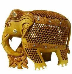 Wooden Elephant Undercut Down Trunk