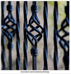 Panel Decorative Cast Iron Balcony Railings