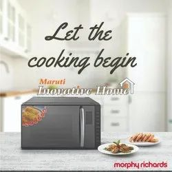 Capacity: 23ltr. Black morphy richards microwave oven, Model Name/Number: 23mcg, 2 Years