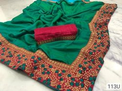 Ladies Party Wear Cotton Saree