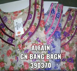 Cotton Printed Ladies Alpine Night Gown, Size: L, Xl