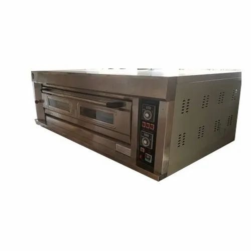 2.4 kW/hr Automatic Gas Deck Oven, Baking Capacity: 4 Tray, Model: LGO40