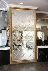 Silver Decorative Mirror Glass For Hotel