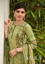 Deepsy Aura Pure Cotton With Emboirdery Work Suits Catalog