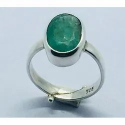 Astrology Sterling Emerald Panna Ring