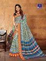 Work Saree Shangrila Collection Kanjivaram Silk Blue Saree- 2396