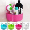 Multi Color Bathroom And Kitchen Storage Organizer Shelf Rack, Shower Corner- Triangle- Soap- Holder