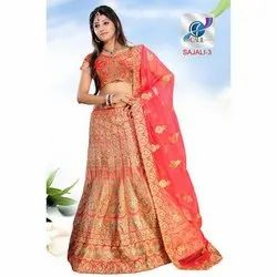 Bridal Embroidered Net Lehenga