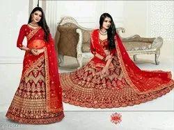 Olla Red Designer Wedding Lehenga