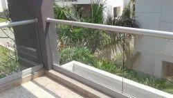 Aluminum Glass Handrail