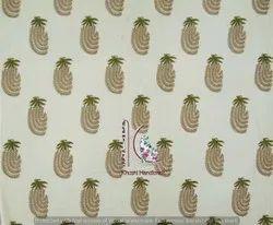 Indian Mugal Buta Hand Block Print Cotton Fabric