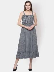 Rayon Party Wear Ombre Maxi Dress