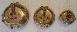 Nirmala Handicrafts Brass Stone Ash-Tray Table Decor And Gift Item