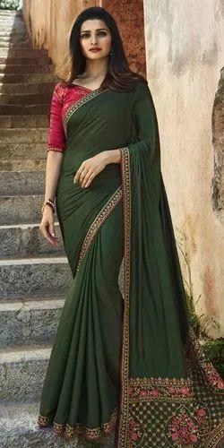 Green Attire Silk Designer Sarees