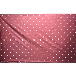 All Over Red Color Cotton Satin Bandhani Than