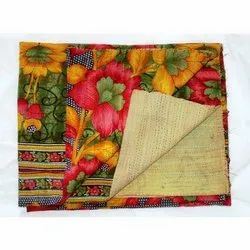 Indian Vintage Super Fine Cotton Kantha Quilt