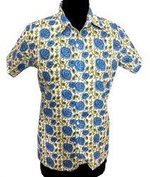 Floral Design 100% Cotton Men Shirt