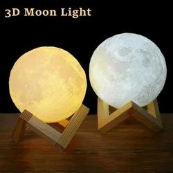 Rechargeable 3D Luna Night Light Moon Lamp 7 Color Change Touch Switch