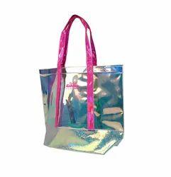 Handbags PU Smily Cute Translucent Hand Bag, Size: 41x13.5x36 Cm