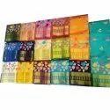 Party Wear Printed Reshami Silk Saree, 6.3 Meter (with Blouse Piece)