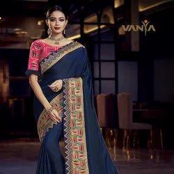 Elegant Blue Silk Woven Saree