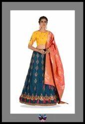 Latest Satin Silk Partywear Lehenga Choli