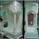 White Marble Four Pillar Temple, For Outdoor, Indoor, Size: 5-10 Feet Height