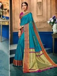 Art Silk Weaving  Saree With Blouse Piece,6.3mtr