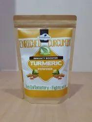 Curcuma Longa Erode Organic Turmeric Powder, Haldi, Packaging Size: 100g