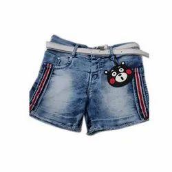 Blue Denim Kids Designer Shorts, Age: 3-5 Year