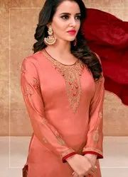 Straight Embroidery Salwar Suit