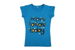 Cotton Casual Wear Girls T Shirts
