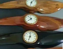 18 Teak Wood Propeller Clock