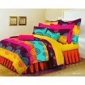 Multi Colour Indian Bedsheet with two pillow covers