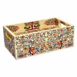Handmade Enamel Print Trays Drawers Serving Trays Kitchen Purpose Decorative Items Home Decor