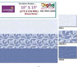Lexomo Ceramic Tiles Blue Stone Tiles, Size: 10 x 15 inch